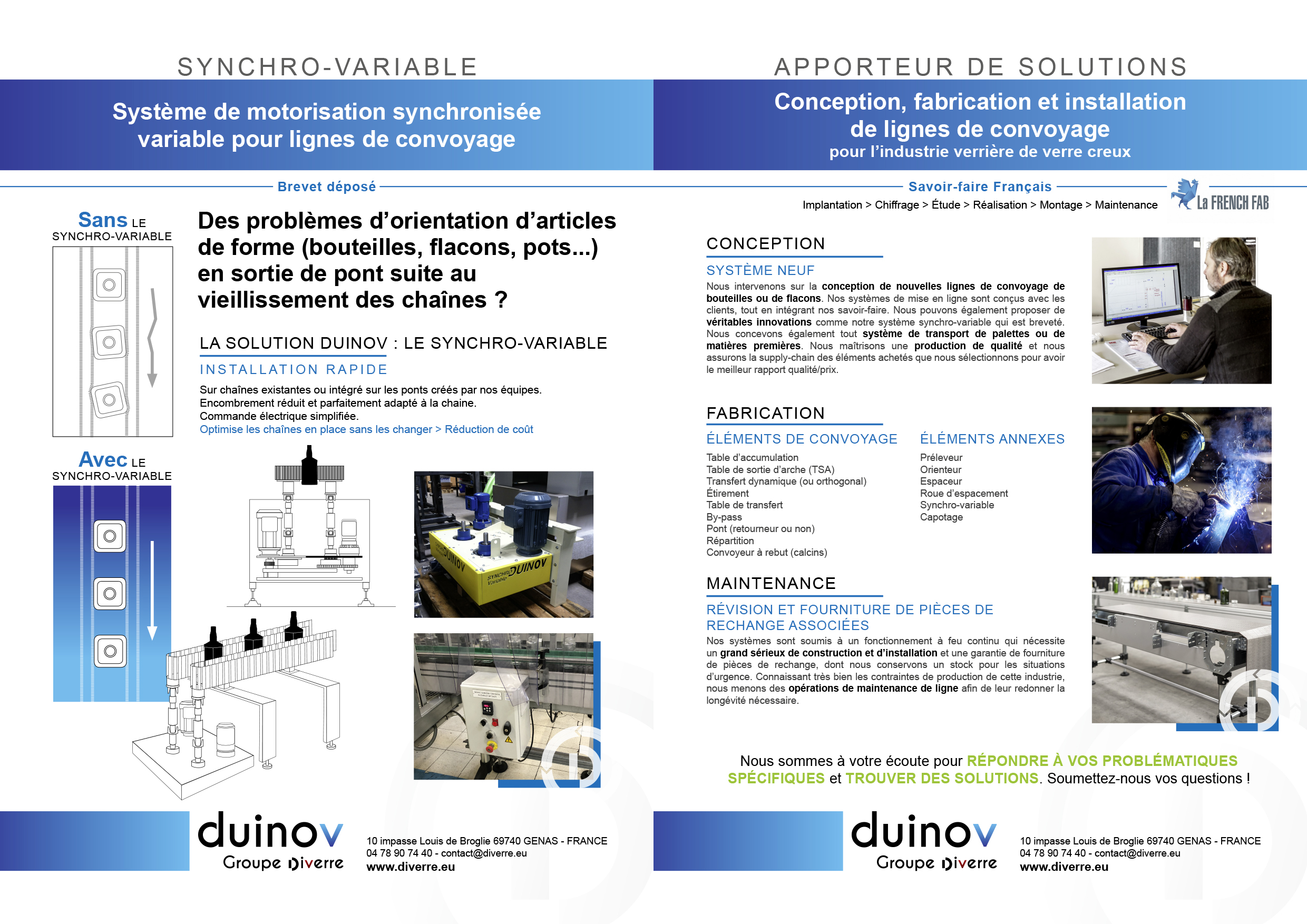 Solution DUINOV: SYNCHRO – VARIABLE