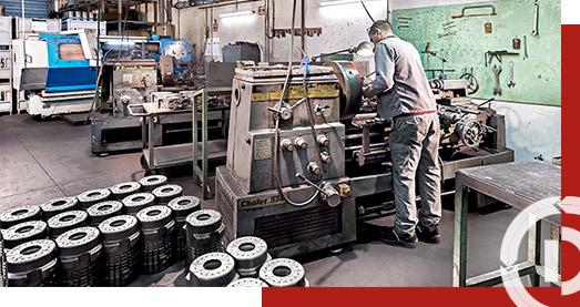 MOULES MÉTALLIQUES pour l'industrie verrière